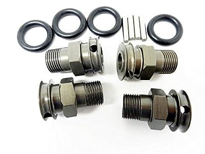 """Rovan RC LT Wheel Extenders, 1"""" Wider Track (gunmetal) (set of 4) Fits LOSI 5IVE T, King Motor X2"""