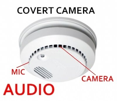 Hidden Camera Smoke Detector w/audio 620TVL Hi Res (a working smoke detector) from cvt