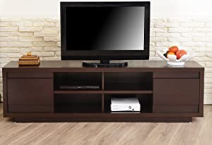Amazon com furniture of america kirry multi storage tv stand walnut