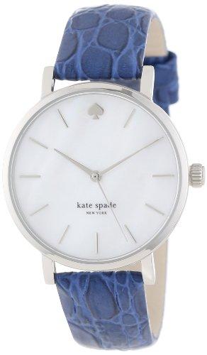kate spade new york Women's 1YRU0193 Stainless Aster Embossed Croc Metro Watch