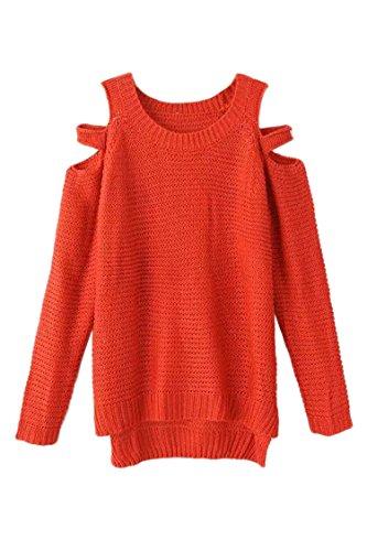 Pink Wind Womens Off Shoulder Sweaters Long Sleeve Knitwear