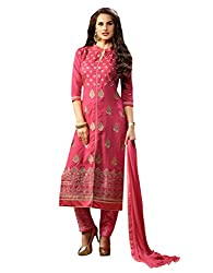 Pure Cotton Embroidered Dress Material