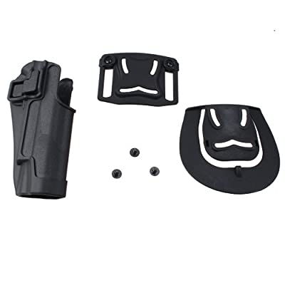 AGPtek Speed Immediate Retention & Audible Click Black Tactical Holster Right Hand Paddle & Belt Holster for Colt 1911