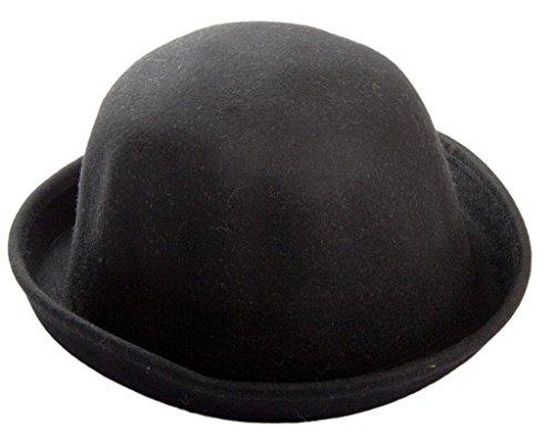 Ewin24 1pcs Lana Pianura celebrità signora d'avanguardia Bowler Derby Hat moda di modo delle donne dell'annata Lana Nizza