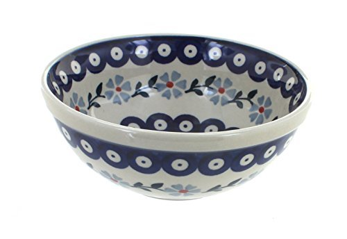 polish-pottery-blue-violet-cereal-soup-bowl-by-blue-rose-pottery