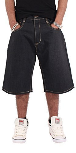 phat-farm-hip-hop-de-garcons-mens-etoile-baggy-skater-short-jeans-est-g-temps-nappy-money-noir-tour-