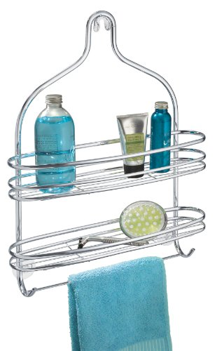 interdesign-axis-bathroom-shower-caddy-for-shampoo-conditioner-soap-wide-silver
