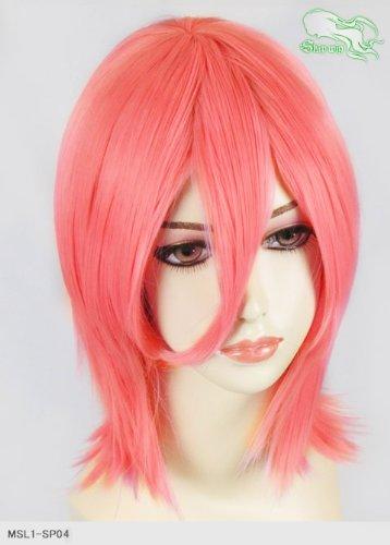 スキップウィッグ 魅せる シャープ 小顔に特化したコスプレアレンジウィッグ シャイニーミディ ピンクグレープフルーツ