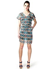 Limited Collection Geometric Print Dress with Camisole
