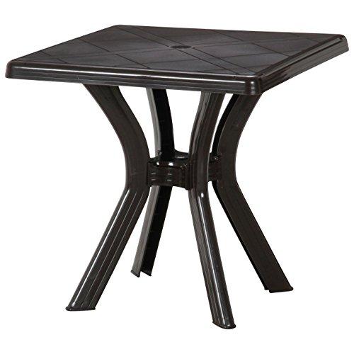 イタリア製ガーデンテーブル PCスクエアテーブル「アンジェロ」【FBC】ブラウン(#9879640-12284)サイズ:幅73×奥行73×高さ73cm