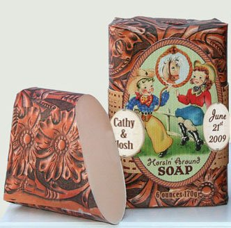 Dolce Mia Horsin' Around Sweet Almond Natural Soap Bar with Goat's Milk 6 oz. (6 per order) Personalized Gift Favors