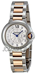 Cartier Ballon Bleu Silver Dial Steel and 18kt Rose Gold Ladies Watch WE902030 by Cartier