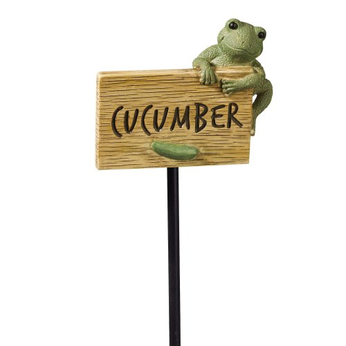 Grasslands Road Frog Figurine Cucumber Garden Marker, 27-Inch, Set Of 3 front-962399