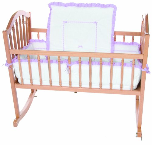 Baby Doll Unique Cradle Bedding Set, Lavender