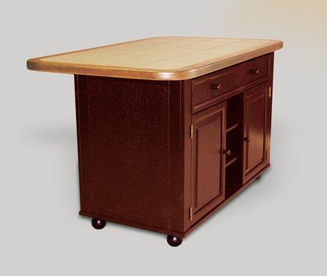 Cheap Sunset Trading CY-KI-TT-02-NLO-SET – Kitchen Tile Top Island (Nutmeg & Light Oak) (CY-KI-TT-02-NLO-SET)