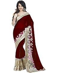 'Bollywood Designer Original Women's Saree With Blouse Piece (BD+Aishwariya_ Saree & Sari) (Brown)