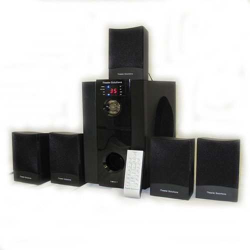 New 5.1 Multimedia Powered Home Theater Surround Sound Speaker System TS511