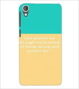 PrintDhaba Quote D-4215 Back Case Cover for HTC DESIRE 820 (Multi-Coloured)