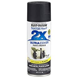Rust-Oleum 249127 Painter's Touch 2x Spray Paint Matte - FLAT BLACK