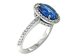 3.57 ct Sapphire & Diamond Cocktail Ring Platinum
