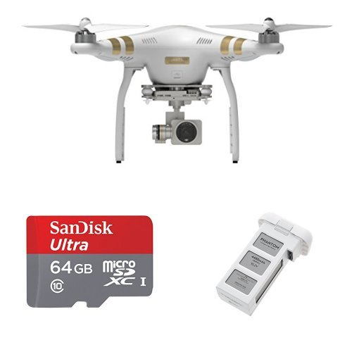 DJI Phantom 3 Professional Quadcopter with Battery plus 64 GB SanDisk Card