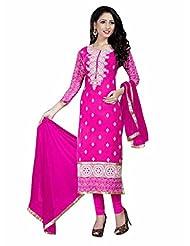 Price Bet Pink 60 Gm Georgette Straight Fit Salwar Suit - B016D38FFE