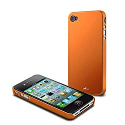 Acase(TM) iPhone 4 and 4S Superleggera flamingo fit case for iPhone 4 4S (Orange) (Fit AT&T and Verizon and Sprint iPhone 4 4S)