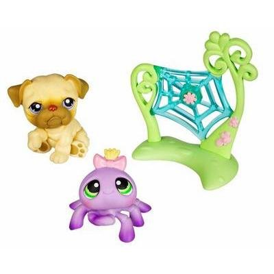 Littlest Pet Shop Pet Pairs Figures Dog & Spider (Lps Bulldog Puppy compare prices)