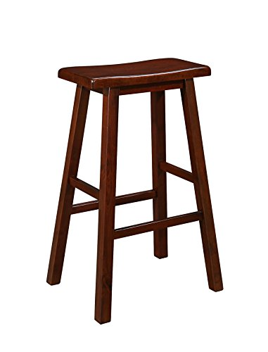 Naomi Home Longmont Wooden Saddle Stool Cherry/29