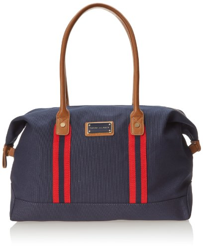 Tommy Hilfiger Solid Canvas Carson Shoulder Bag,Yachting Navy,One Size