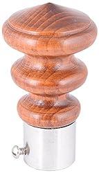 Aavishkar Decors Wooden & Stainless Steel Knob - Brown