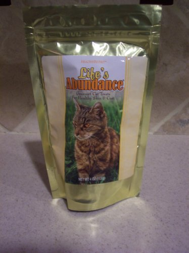 Cat Treats - Life's Abundance Gourmet Cat Treats For Healthy Skin & Coat Holistic Formula 4 oz. (113g)
