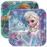 Frozen Cake Plates and Napkin Set