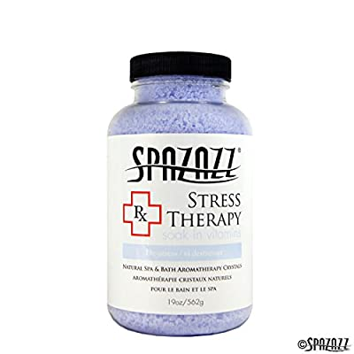 Spazazz SPZ-605 RX Therapy Crystals Container Bath Minerals, 19-Ounce, Stress Therapy De-Stress