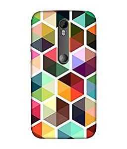 small candy 3D Printed Back Cover For Motorola Moto G Turbo / Moto G3 -Multicolor pattern