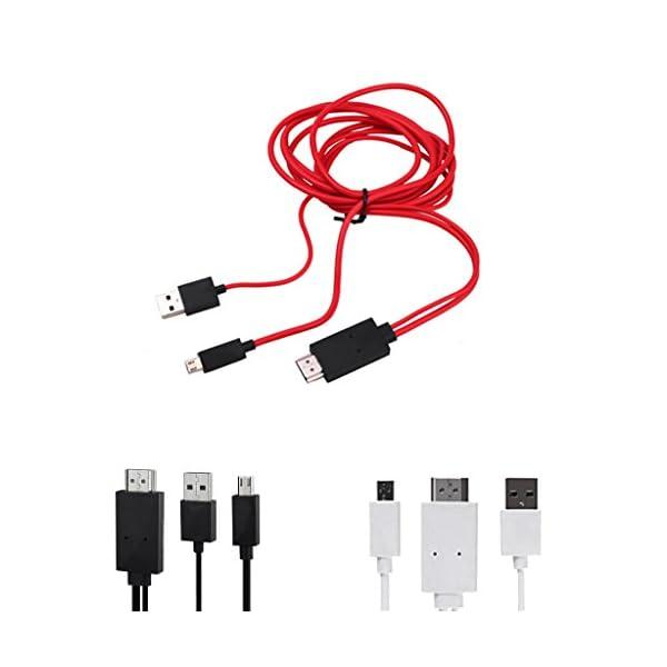 Mhl-Micro-Usb-Hdmi-Adaptateur-De-Cble-TV-HD-1080p-Pour-Les-Tlphones-Android-Noir