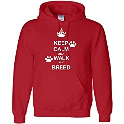 Kids Keep Calm and Walk the Dog (Any Breed) Hoodie, Ages 5-15, Various colours