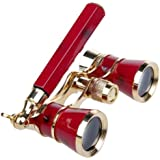 NuoYa005 Classic Opera/Theater Telescope 3x25 Coated lens Binoculars w RED handle