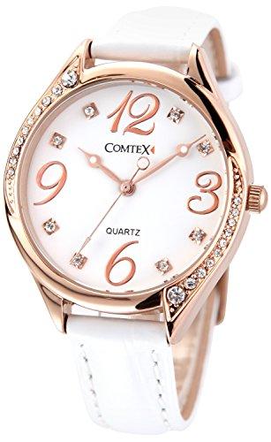 Comtex 腕時計 可愛い レディースレザーウォッチ クオーツ アナログ レディース