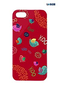 Lorem Back Cover For Apple iPhone 5/5S-Red-L23479