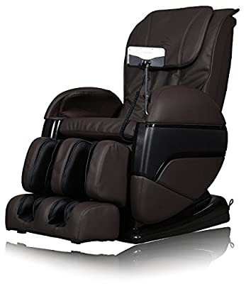 Best Valued L Track Dream Machine Shiatsu Massage Chair with True Zero Gravity Postioning & Body Stretching Dark Brown