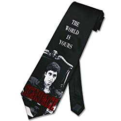 SCARFACE SILK NeckTie World Is Yours Al Pacino Men's Neck Tie