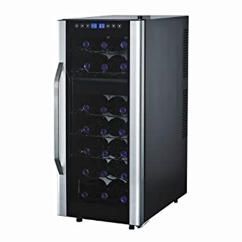 Wine Enthusiast Silent 21 Bottle Dual Zone Touchscreen Wine Refrigerator