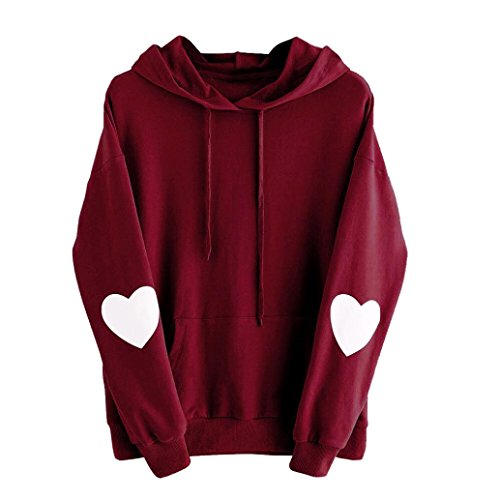 0dcf8983363 AmyDong Hot Sale! Women's Sweatshirt, Love Heart Long Sleeve Sweatshirt  Jumper Hooded Pullover Blouse Hoodie Sweatshirt ...
