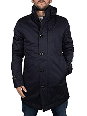 G-Star Men's Garber Trench Jacket, Blue
