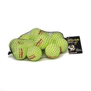 Unique 18-Pack Mesh Bag of Pressureless Tennis Balls
