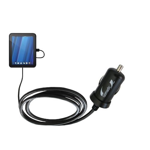 Mini 10W Car / Auto DC Charger for the HP TouchPad with Gomadic Brand Power Sleep technology - Designed to last with TipExchange Technology