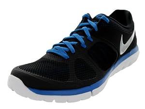Nike Men's Flex 2014 RN Blk/Mtllc Slvr/Mltry Bl/White Running Shoe 8.5 Men US