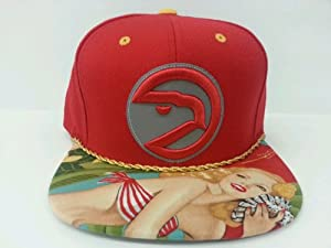 Mitchell and Ness NBA Atlanta Hawks Custom Snapback Cap, Hat: 3M Reflective by Mitchell & Ness