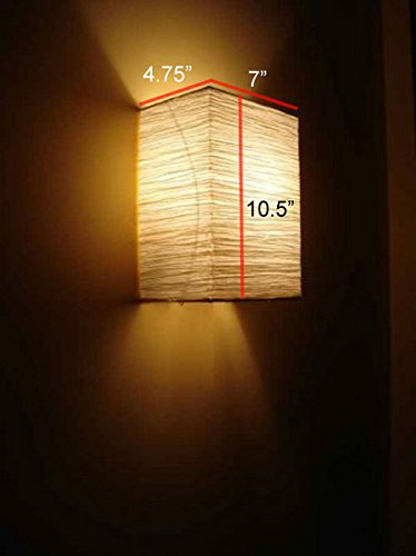 Rice Paper Wall Lamp Soft Mood Light Asian Style Bulb